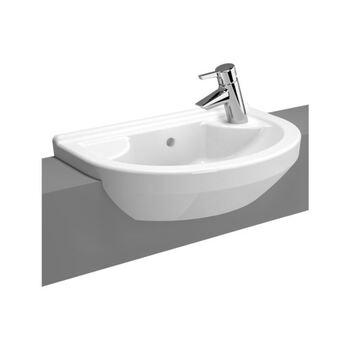 Vitra S50 5597B003-0028 550 MM 1 Left Tap Hole Basin White