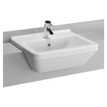 Vitra S50 5598B003-0001 550 MM 1 Tap Hole Basin White