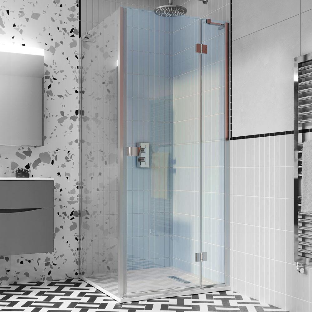 Crosswater   Design 8   DHDSC1200   1200mm Hinged Shower Door
