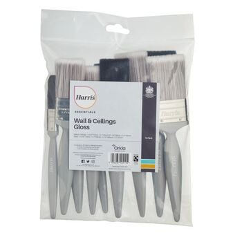 Harris Essentials 101011007 Walls & Ceilings & Woodwork Gloss Paint Brush 10 Pack