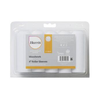 "Harris Seriously Good 102022001 Woodwork Gloss 4"" Mini Roller Sleeve  10 Pack"