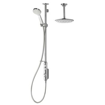 Aqualisa iSystem ISD.A2.EV.DVFC.21 Smart Divert Exposed Adj Hand Shower with Ceiling Fixed Head - Low Pressure