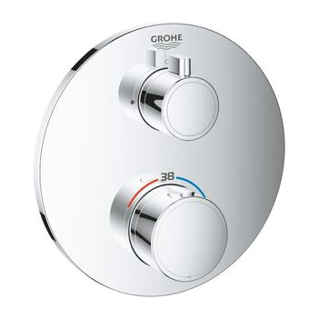 Grohe Grohtherm 24075 Thermostat 1 Outlet Trim Set Only Chrome